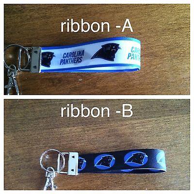 Carolina Panthers Keychain Double Sided Ribbon * Buy 2 Get 1 FREE](Carolina Panthers Ribbon)