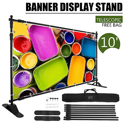 10' x 8' Step and Repeat Banner Stand Adjustable Telescopic Trade Show -