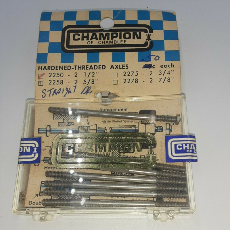 Champion of Chamblee NOS Vintage slot car parts, 2 1/2 axles x7
