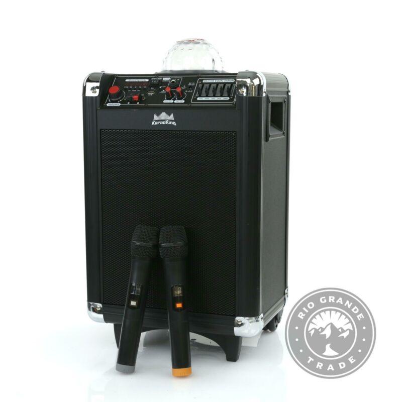 OPEN BOX KaraoKing Karaoke - Wireless Microphone Speaker with Disco Ball - Black