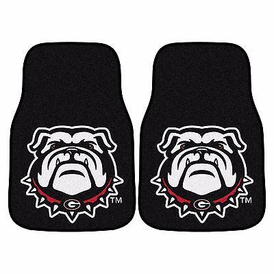 Georgia Bulldogs Rug - Georgia Bulldogs 2-Piece Carpet Car Auto Floor Mats