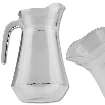 Glaskaraffe Saftkrug Eisteekanne 1,8 l Kanne Wasserkaraffe Deckel Trinkkaraffe