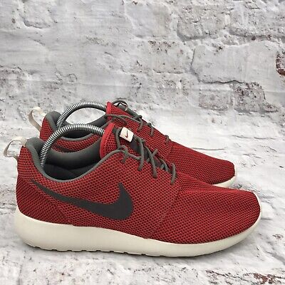 Nike Roshe One UK 10 Red Mens Trainers Shoes Light Weight Running...