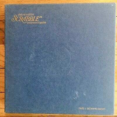 Vintage 1977 Scrabble Deluxe Edition INSIDE SMALL BOX ONLY (NO Turntable Tiles+)