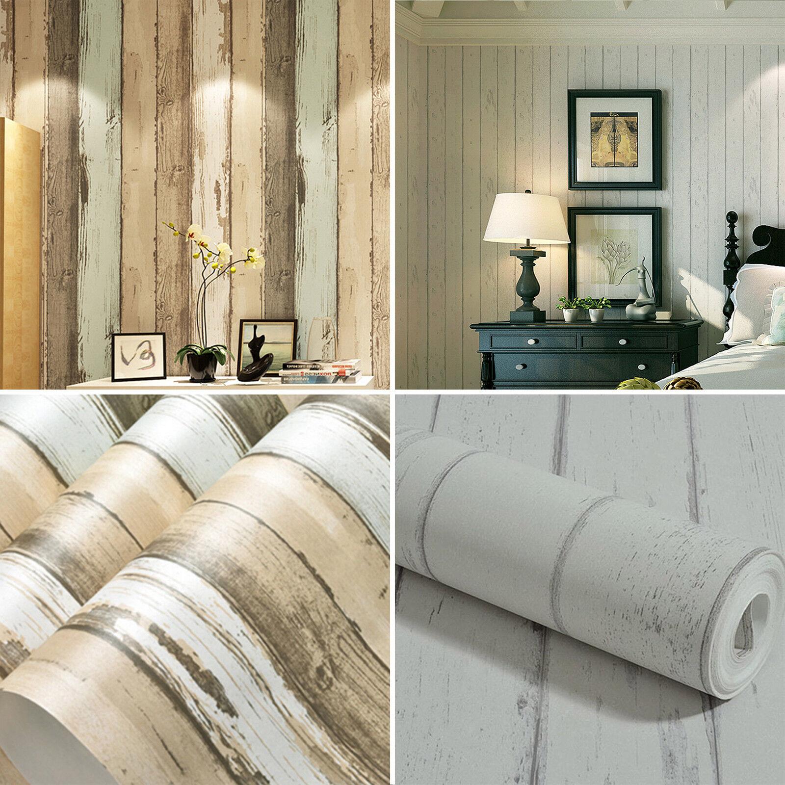 Realistic Wood Optic Plank Wood Panel Stripe Feature ...