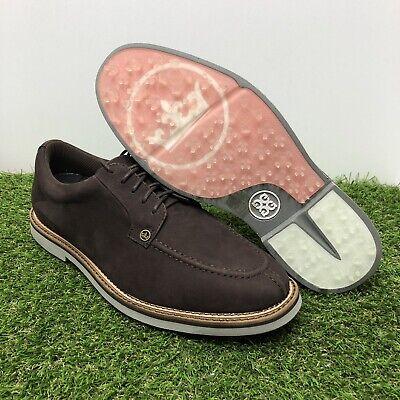 NEW Peter Millar G/FORE Pintuck Gallivanter Leather Golf Shoes MF17EF01A Sz 12.5
