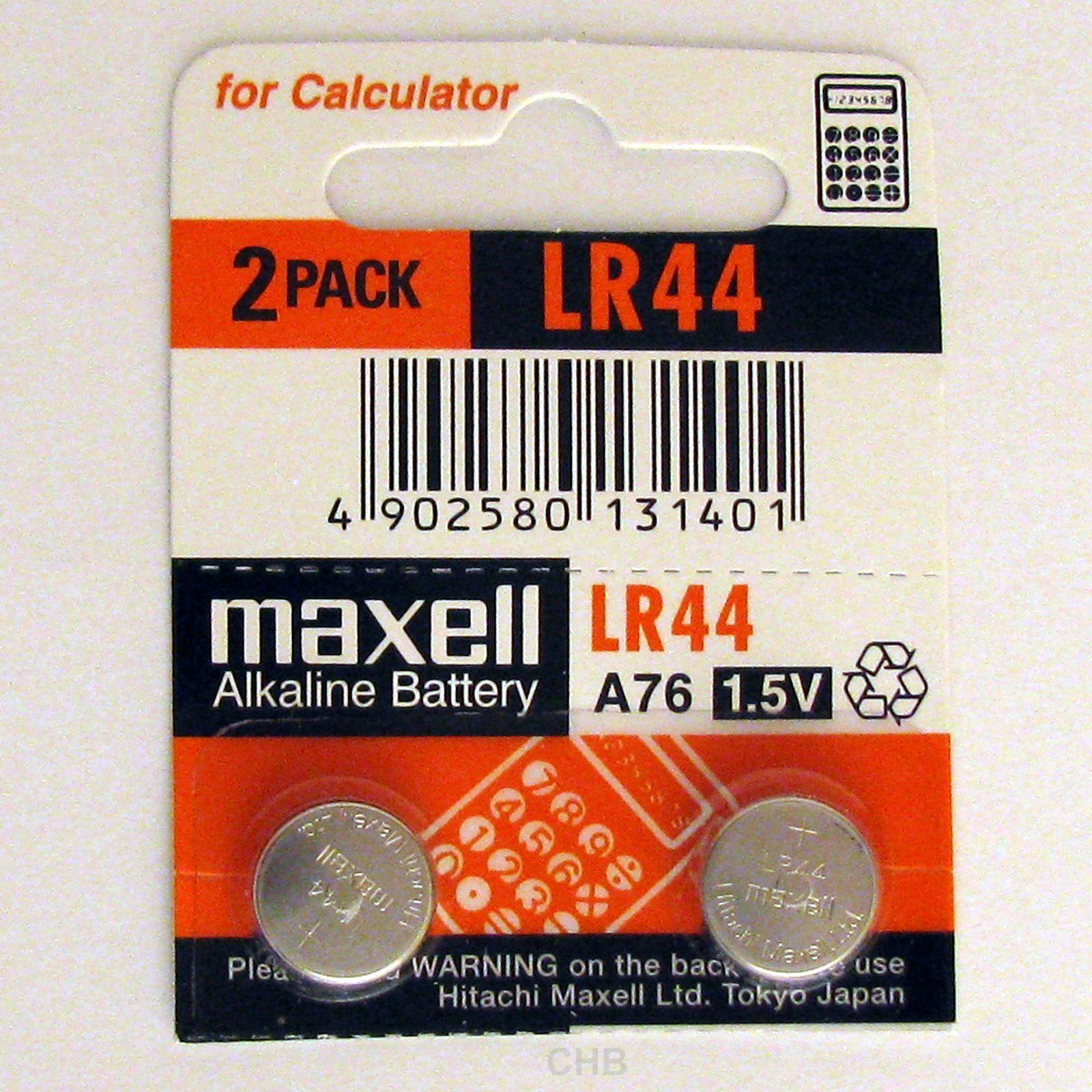 2 NEW LR44 MAXELL A76 L1154 AG13 357 SR44 303 BATTERY