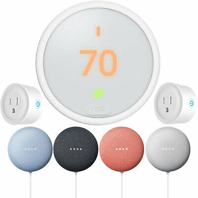 Google Nest Learning Thermostat E + Nest Mini  + 2-Pack Deco