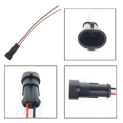 FIAT DOBLO FOG EXTENSION WIRING HARNESS LOOM MALE SIDE 2 PIN CONNECTOR