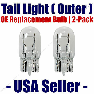 Tail Light Bulb (Outer) 2pk - OE Replacement Fits Listed Acura Vehicles - 7443