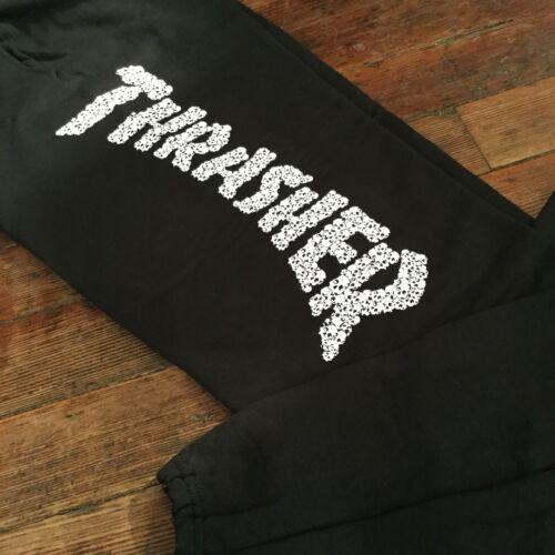 THRASHER SKULLS LOGO SWEATPANTS BLACK