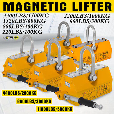 1003006001000kg Steel Magnetic Lifter Heavy Duty Crane Hoist Lifting Magnet