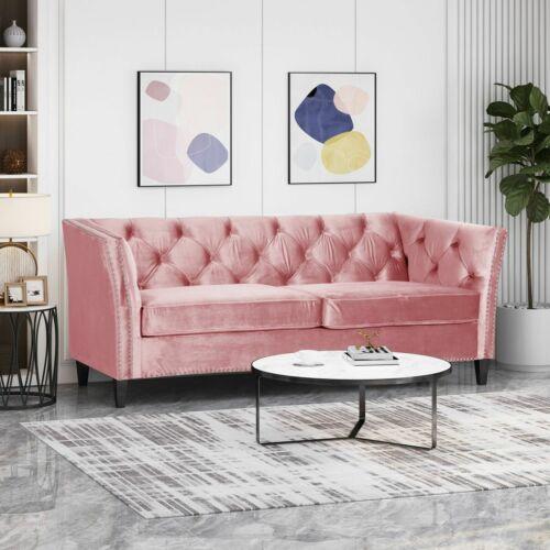 Alessio Contemporary Tufted Velvet 3 Seater Sofa Furniture