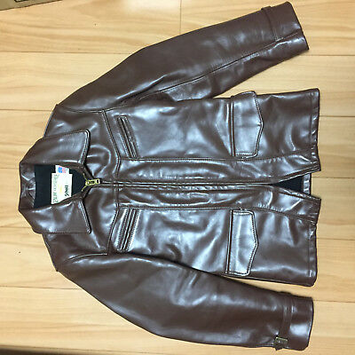 schott 699H 36 horsehide brown carcoat leather motorcycle jacket caferacer 740