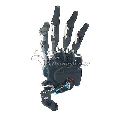 Assembled Mechanical Claw Clamper Gripper Arm Left Hand Five Fingers Wservos