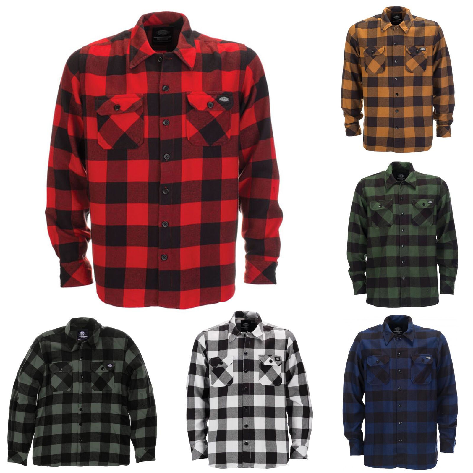 Dickies - Sacramento Karohemd Holzfeller Kariert Hemden Herren