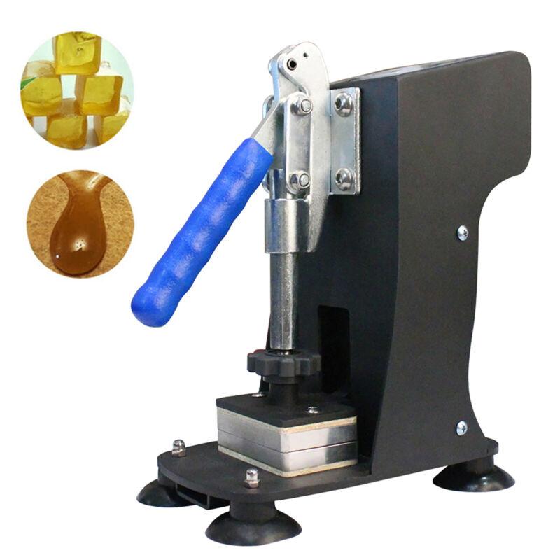 "2""x3"" Mini Rosin Heat Press Machine Hand Crank Dual Heated Element Handheld 110V"