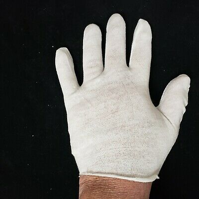 24 Pair Med Cotton White Inspection Gloves Gardening Work Liners Coin Jewelry
