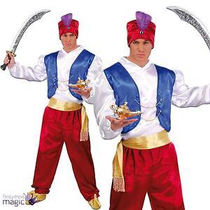 Adult Genie Ali Baba Aladdin Bollywood Arabian Panto Fancy Dress Costume Outfit