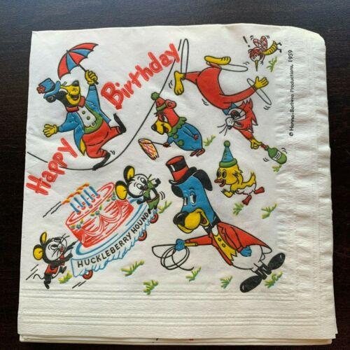 Huckleberry Hound Hanna-Barbera vintage party napkins (14)