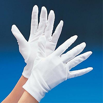 Adult Child White Gloves Magician Mime Santa Maid Clown Halloween Costume New - White Magician Gloves