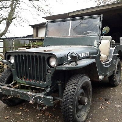 Willys jeep1942 Ford GPW WW 2 jeep classic car military vehicle barn find