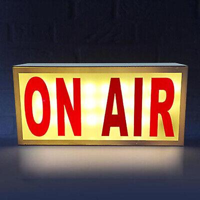 Powerful Media Studio ON AIR LED Neon Light Sign Box Life Display Light +Remote
