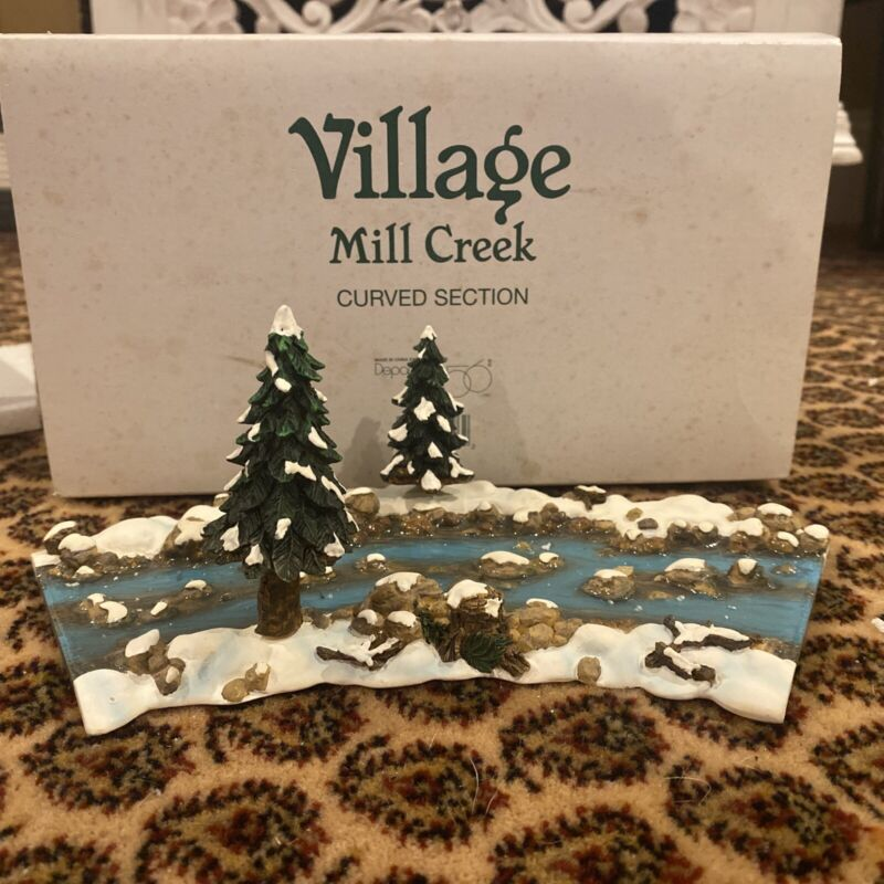 Dept 56 Village Mill Creek Curved Section Village Accessories 52634