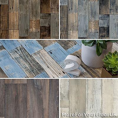 Vintage Wood Style Vinyl Flooring Rustic Plank 2.8mm Kitchen Bathroom Cheap