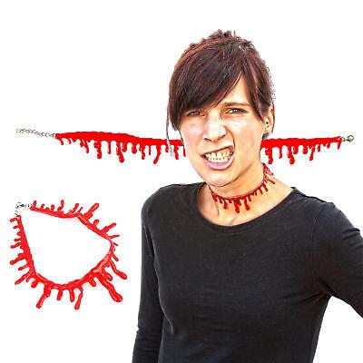 stropfen Halskette Rot Halsband Party Horror (Blut Tropfen)
