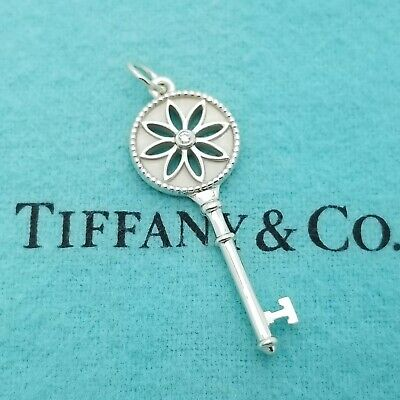 Tiffany & Co. 925 Sterling Silver Small Daisy Flower Key Diamond 1.5' In (Tiffany Flower)