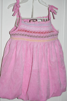 - Juicy Couture 18m Toddler Girls 2 pc Pink Terry Dress Romper w/ Bloomers 18-24m