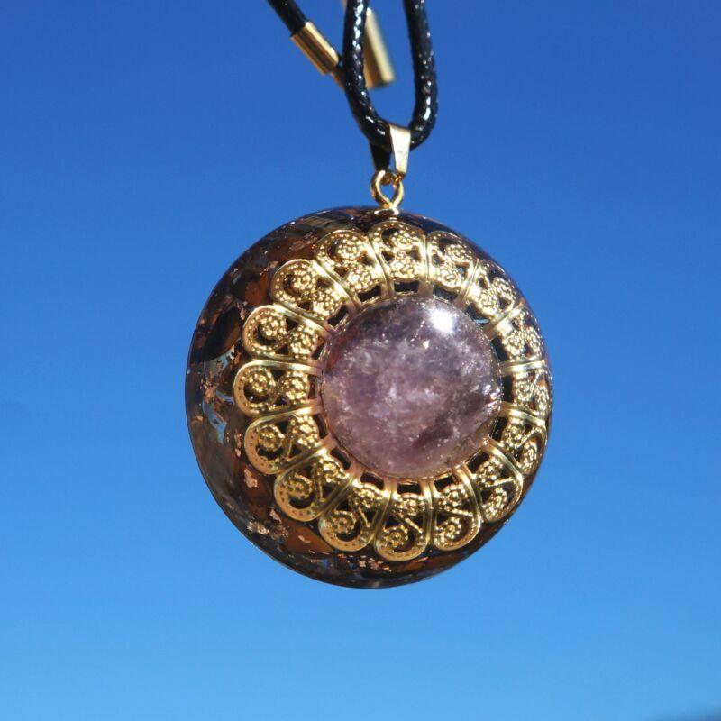 Orgonite Pendant Crystal Orgone EMF Protection Jewelry Necklace Meditation Tool
