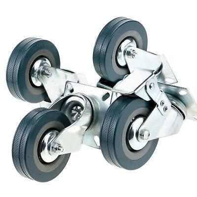 Heavy Duty 75mm Rubber Swivel Castor Wheels Furniture Trolley Caster 200kg