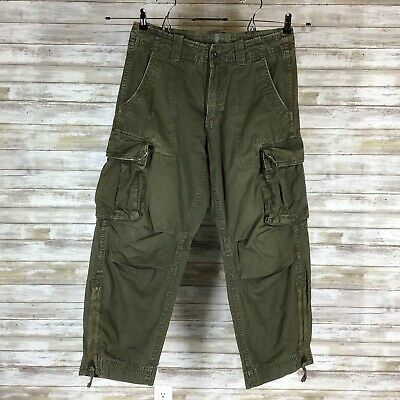 Hollister HCo-22 Paratrooper Style Cargo Pants Men's Large in Olive Brown