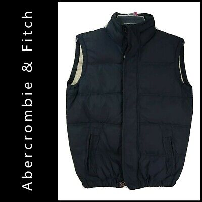 Abercrombie & Fitch Mens Casual Outdoor Black Zip Up Puffer Vest Size Medium