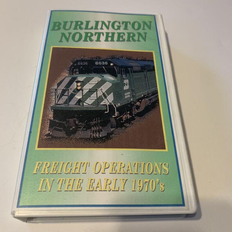 Burlington Northern Freight Operations 1970's Railroad Vhs 2002