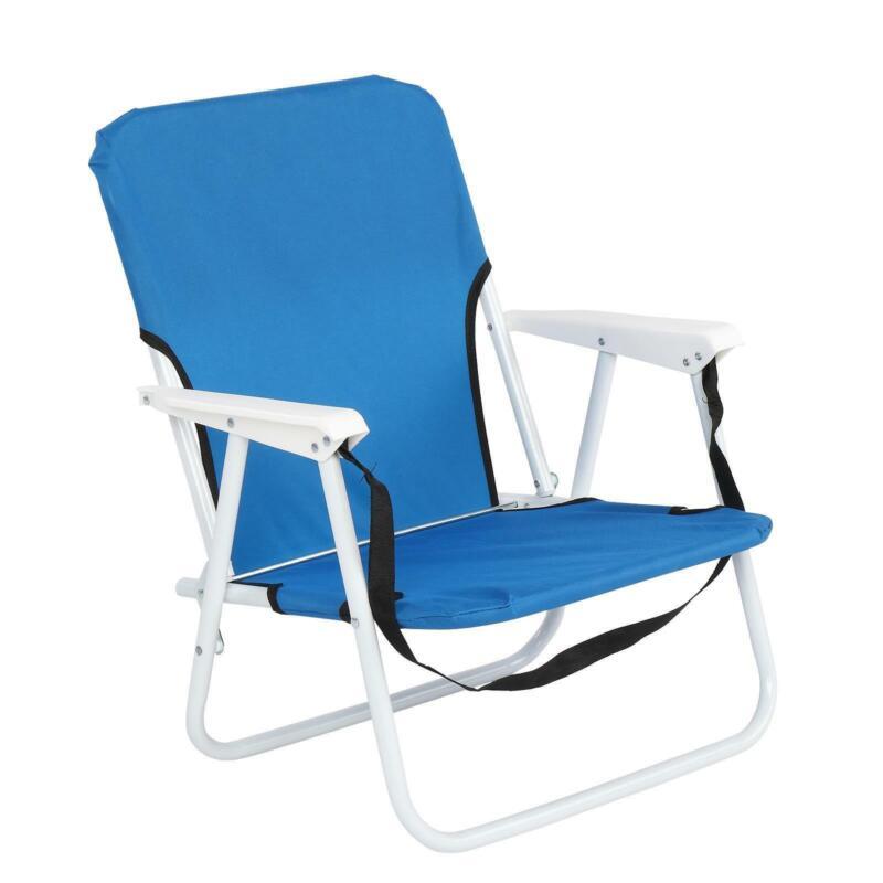 Backpack Beach Chair Folding Patio Furniture Home Blue Camping Chair 1-2PCS