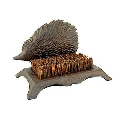 - Country Rustic Sturdy Metal Hedgehog Outdoor Garden Shoe Boot Scraper Brush