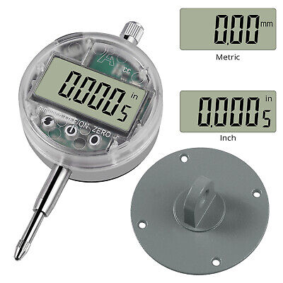 Electronic Digital Touch Dial Indicator Gauge With Back Lug Measure Inchmetric