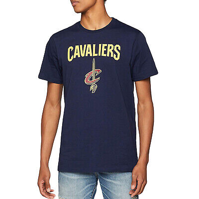 New Era Mens Cleveland Cavaliers NBA Basketball Short Sleeve T-Shirt Top  - Navy