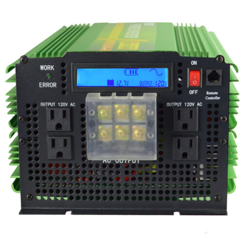 Power Inverter 3500W 7000W Pure Sine Wave 12V to 120V  LCD D