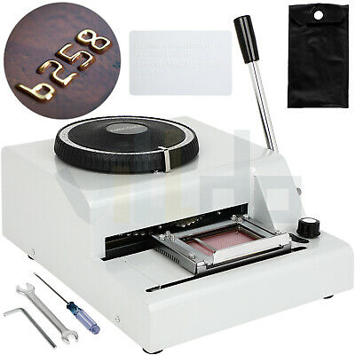 72 Character Manual Card Embosser Machine For Pvc Card Vip Id Card Stample
