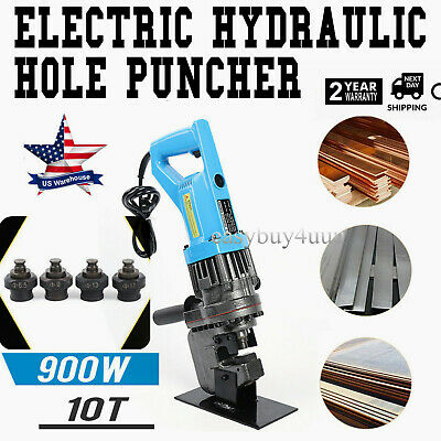 Hydraulic Electric Hole Punch Puncher Steel Plate Hole Punching Machine W5 Dies