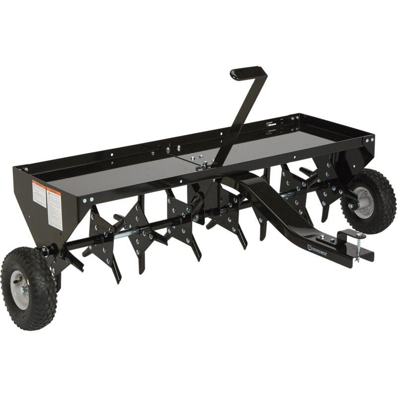 Strongway Tow-Behind Plug Lawn Aerator - 48in.W, 32 Coring Plugs