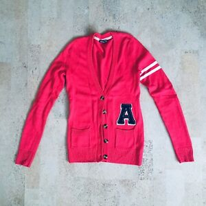 Pink Letterman Sweater, Size Small