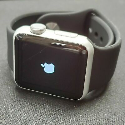 Apple Watch Series 1 38mm Smartwatch Silver Case White Band C GRADE**