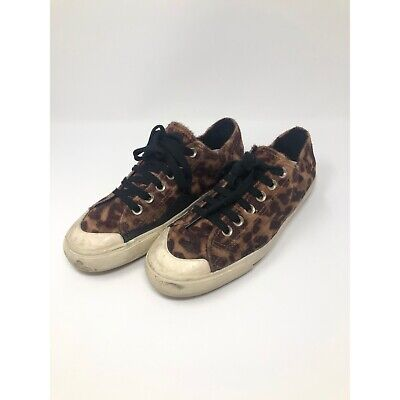 ZARA Men's Faux Cheetah Print Low Top Shoes Size 39 / US Men's 6.5 Women's 8