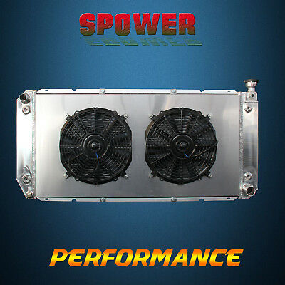 3-Row/CORE Aluminum Radiator+Fan Shroud For Chevrolet C1500  K1500 R25 -