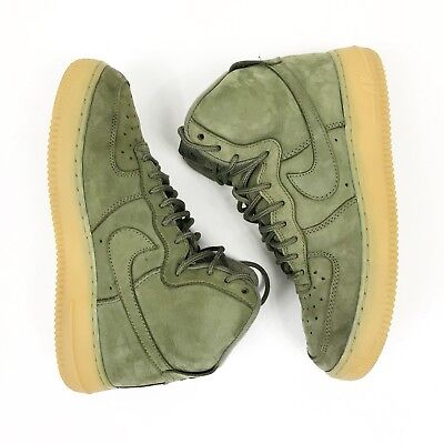 Nike Air Force 1 High WB (GS) Kids Shoes Size 6Y Olive Suede Gum 922066 202 Olive Suede Kids Shoes